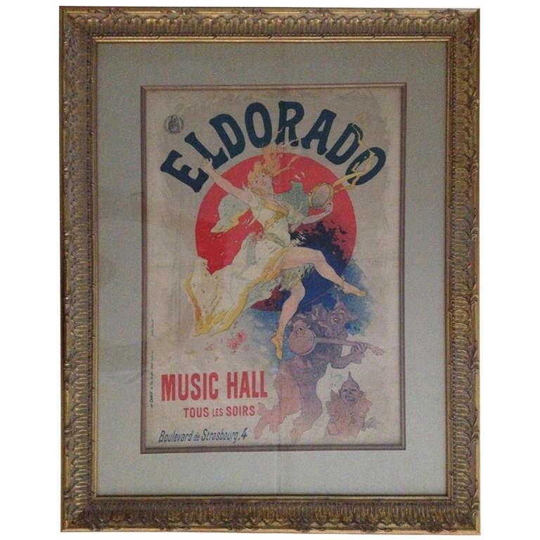 Jules Cheret Eldorado Art Nouveau Original Poster For Sale