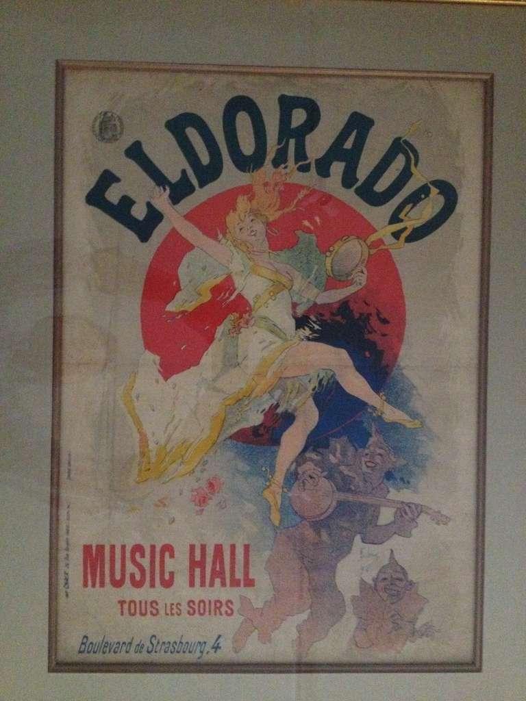 French Jules Cheret Eldorado Art Nouveau Original Poster For Sale
