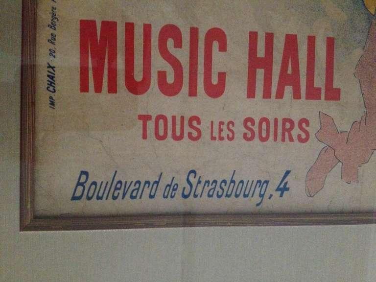 Jules Cheret Eldorado Art Nouveau Original Poster For Sale 1