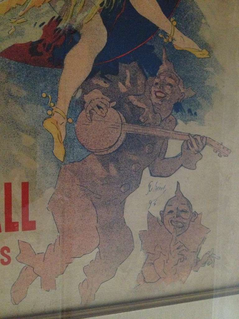 20th Century Jules Cheret Eldorado Art Nouveau Original Poster For Sale