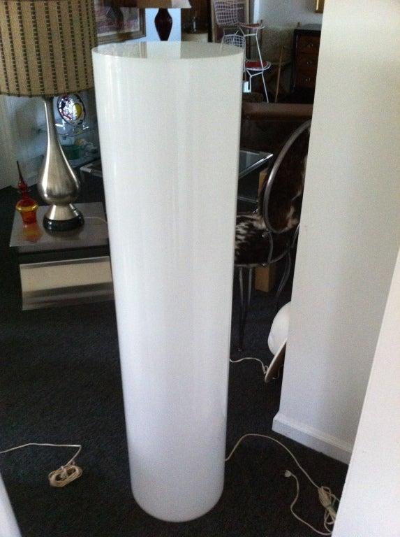 Tall White Plexiglass Lighted Display Pedestal At 1stdibs