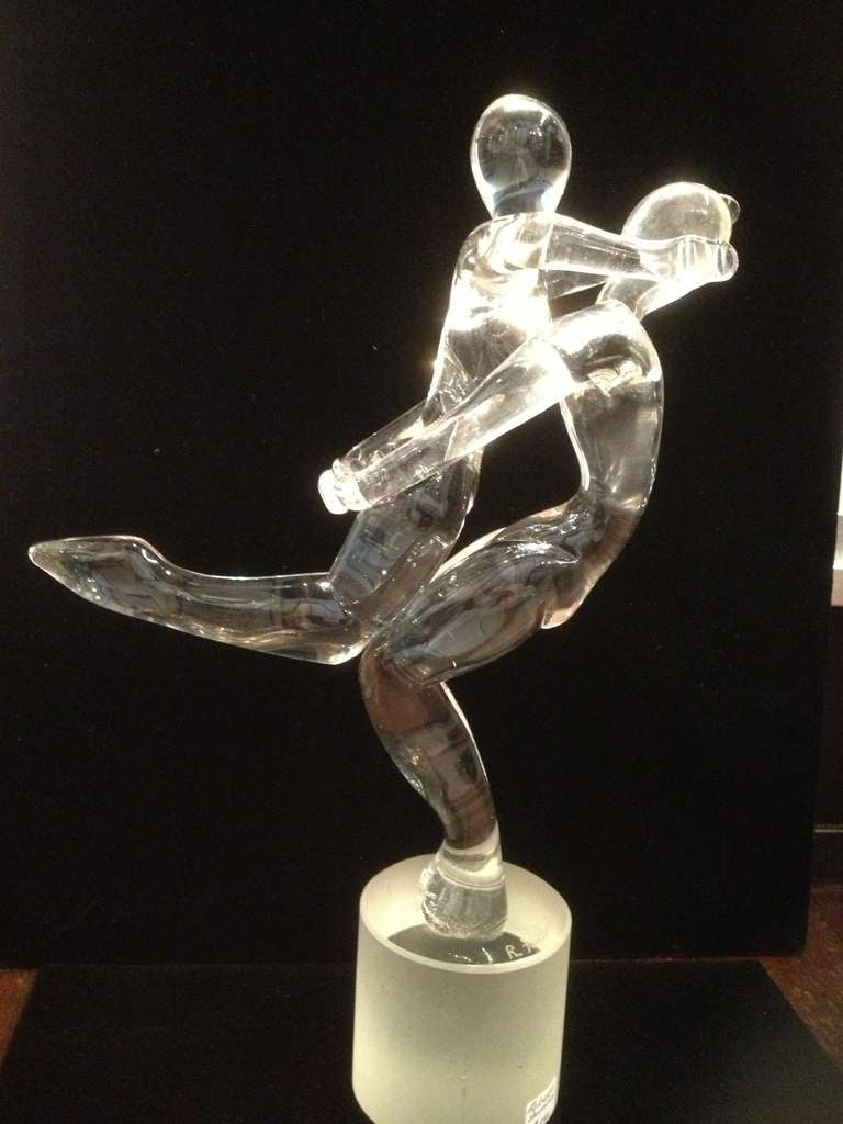 Mid-Century Modern Roberto Anatra Murano Glass Sculpture For Sale