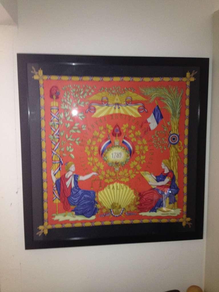 Hermes Scarf Framed For Sale At 1stdibs