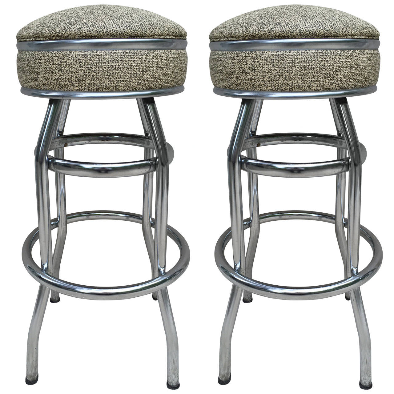 Pair art deco swivel bar stools for sale at 1stdibs for Bar stools for sale