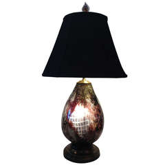 French Le Verre Francais Lighted Base Art Glass Lamp