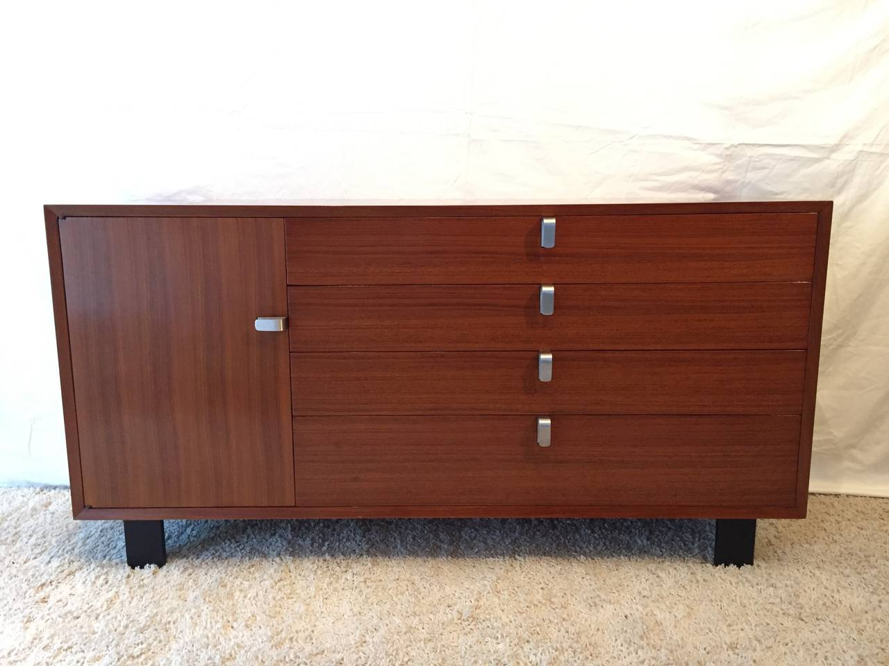 George Nelson Cabinet Rare Designed Pulls for Herman Miller For Sale ...