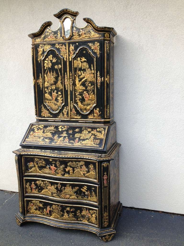 Chinoiserie Desk Cabinet With Draws At 1stdibs