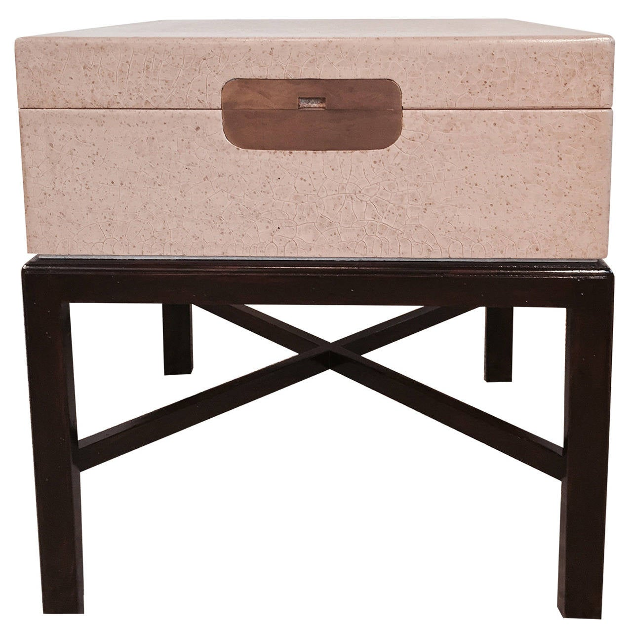 Marge Carson Dining Tables Marge Carson Craquelure Lacquer Box Table For Sale At 1stdibs