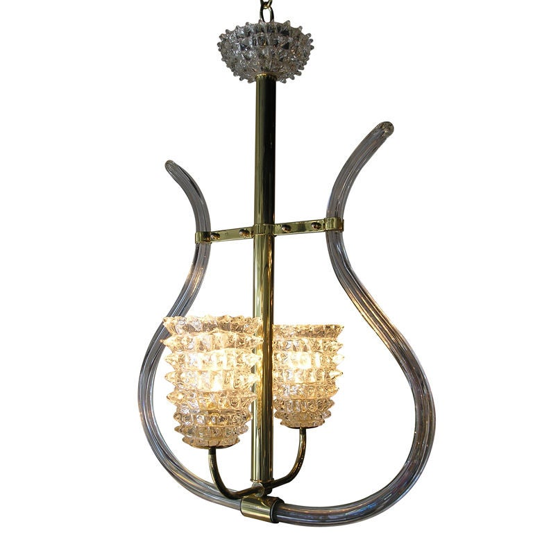 Glass Chandelier Barovier Toso For Sale
