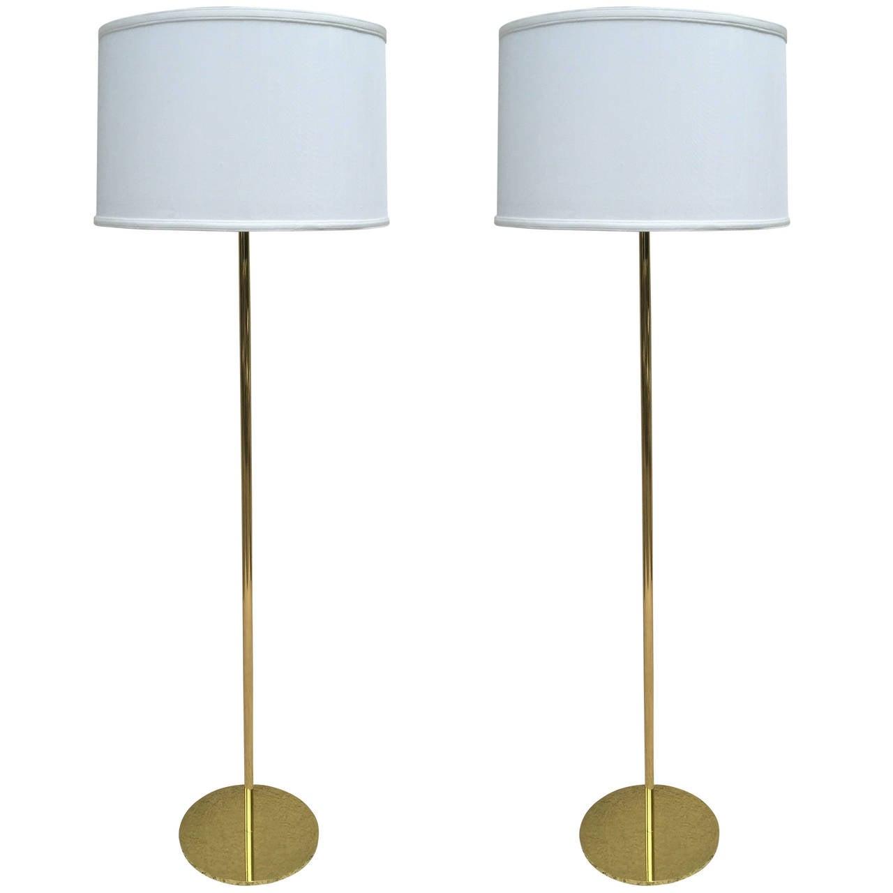 Pair of Hansen style Solid Bronze Standing Lamps