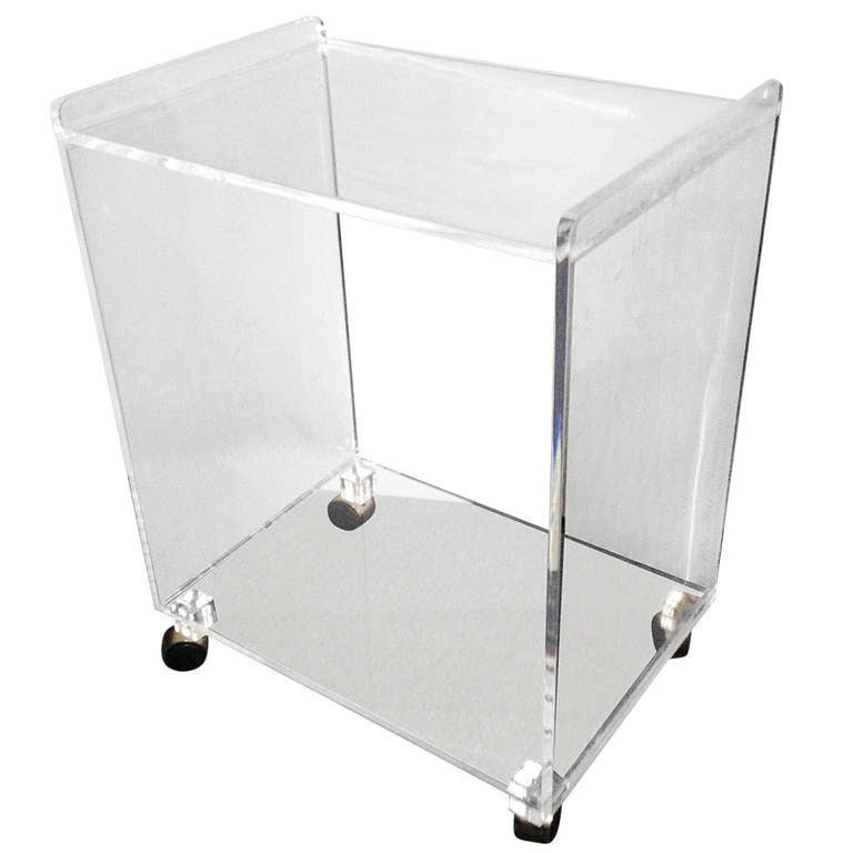Two Tier Lusite Rolling Cart