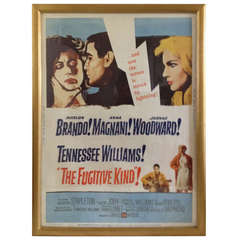 "Original ""The Fugitive Kind"" Movie Poster"