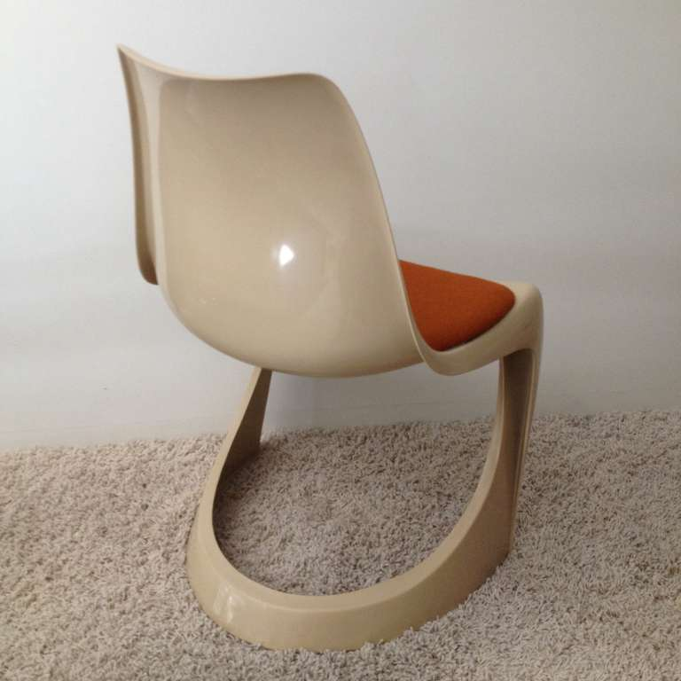 Danish Set of Four Molded Plastic Steen Ostergaard Cado Chairs For Sale