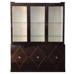 Tommi Parzinger Inlaid Cabinet