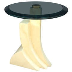 Springer Style Faux Goat Skin Lacquer Table
