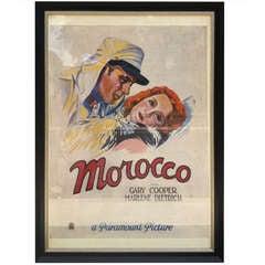Original Artwork Morocco Movie Poster 1930