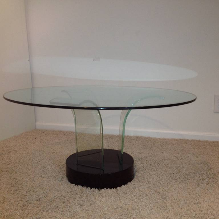 Rare Modernage Pittsburg Plate Glass Art Deco Cocktail Table At 1stdibs