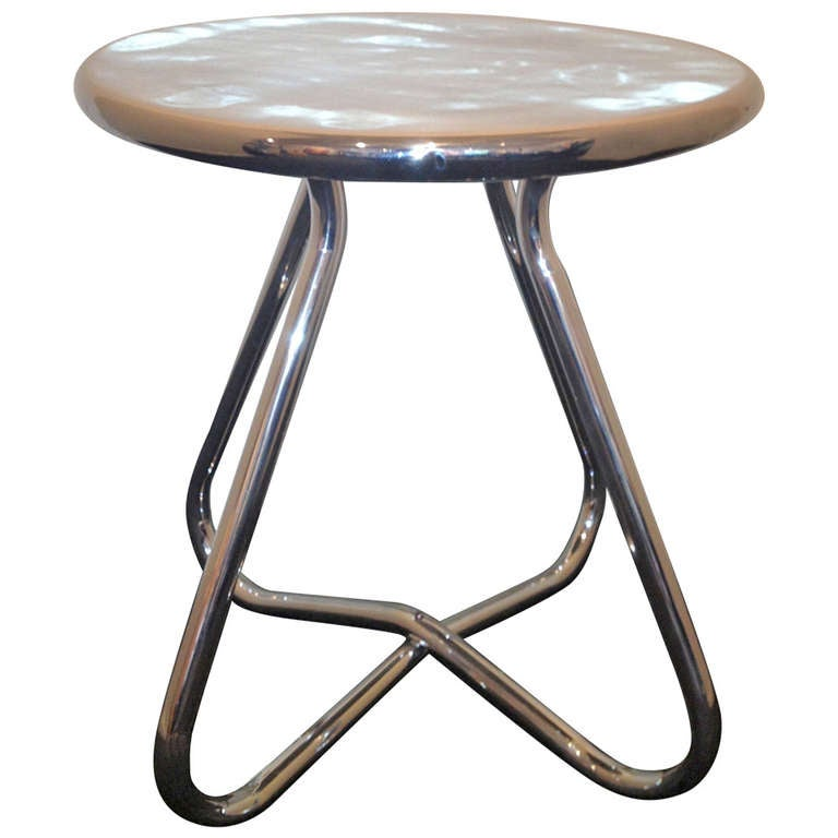 Aluminum 1940's side Table