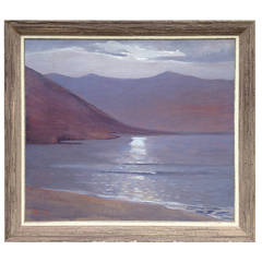 "Marjorie Milbank Painting, ""Before Twilight"" Tierra Del Fuego"