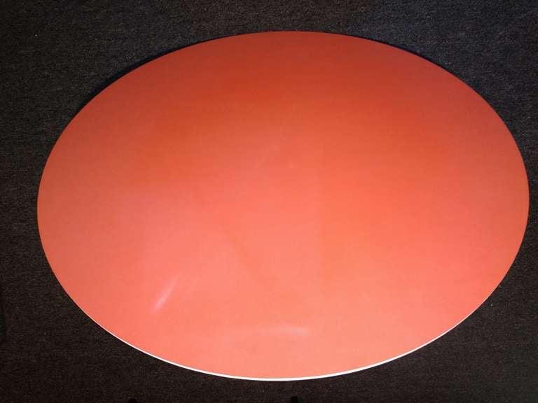American Tulip Table Orange Top For Sale