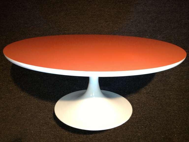 1960s all original orange Formica top cocktail table.