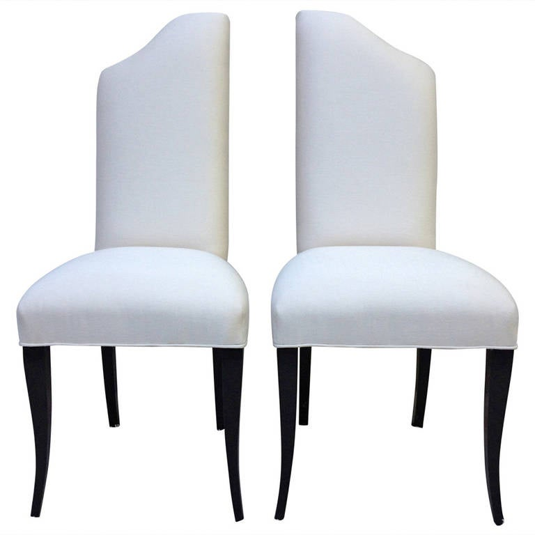 Pair of Elegant Hollywood Regency Side Chairs