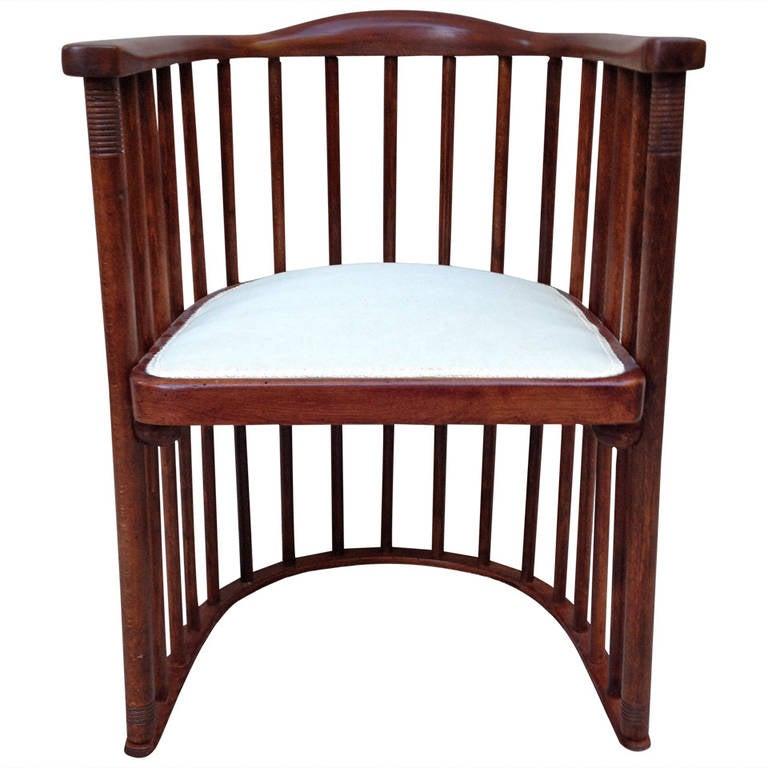 Joseph Hoffman For Khon Signed Barrel Chair 1