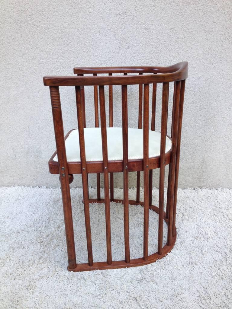 Joseph Hoffman For Khon Signed Barrel Chair 3