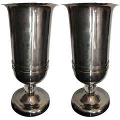 Pair of French Art Deco Torchiere Lamps