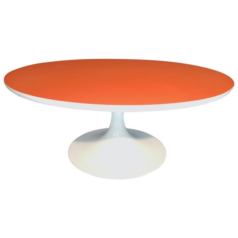 Tulip Table Orange Top For Sale