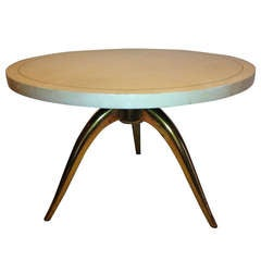 Leon Jallot French Deco Parchment Table