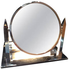 Art Deco Lighted Magnifying Mirror