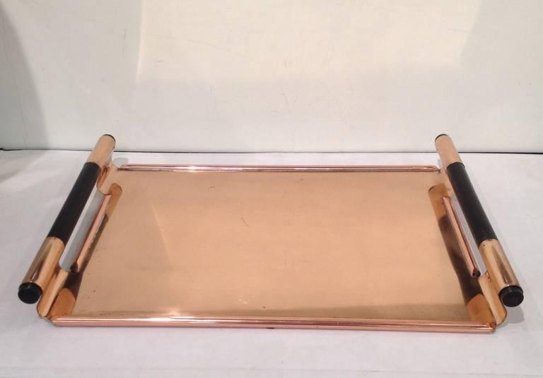 American Walter Von Nessen Rare copper Tiffin Tray For Sale