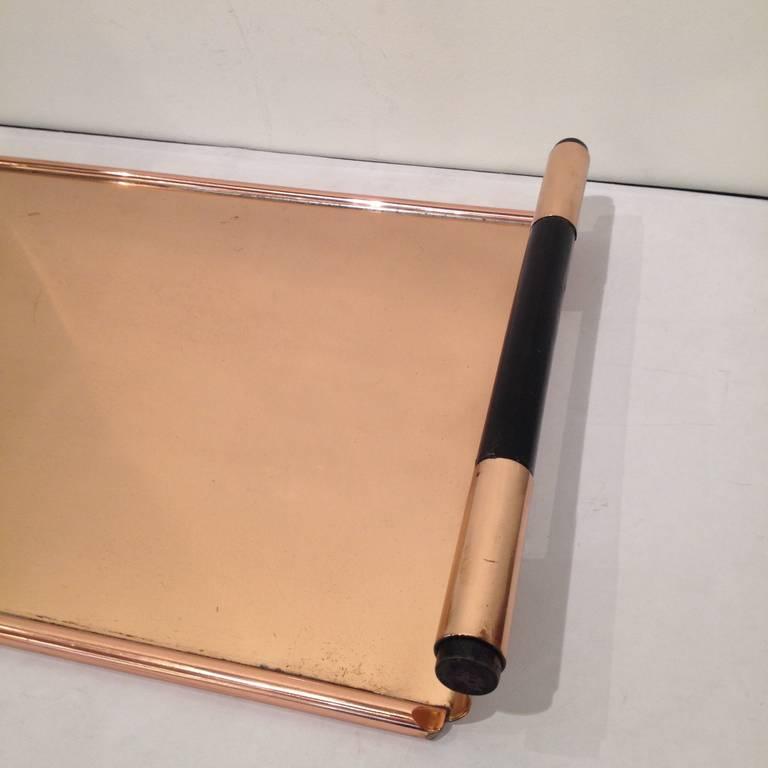Mid-20th Century Walter Von Nessen Rare copper Tiffin Tray For Sale