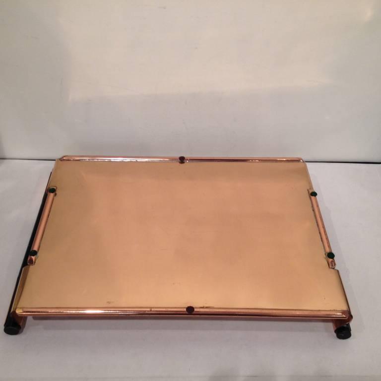 Copper Walter Von Nessen Rare copper Tiffin Tray For Sale