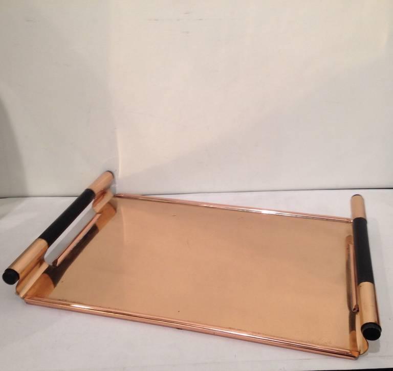Walter Von Nessen Rare copper Tiffin Tray In Excellent Condition For Sale In Westport, CT