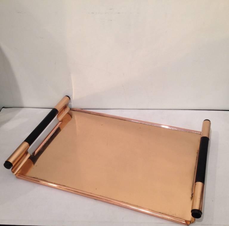 Walter Von Nessen Rare copper Tiffin Tray For Sale 2