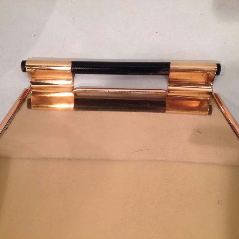 Walter Von Nessen Rare copper Tiffin Tray For Sale 3