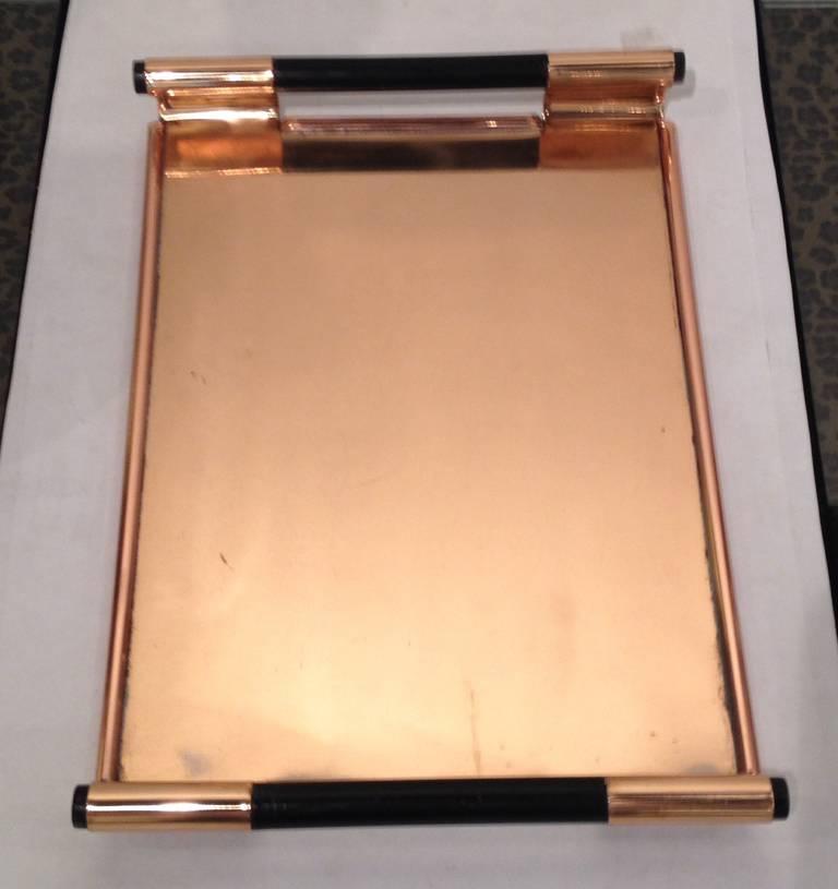 Walter Von Nessen Rare copper Tiffin Tray For Sale 1