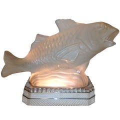 Sabino French Art Deco Fish Light