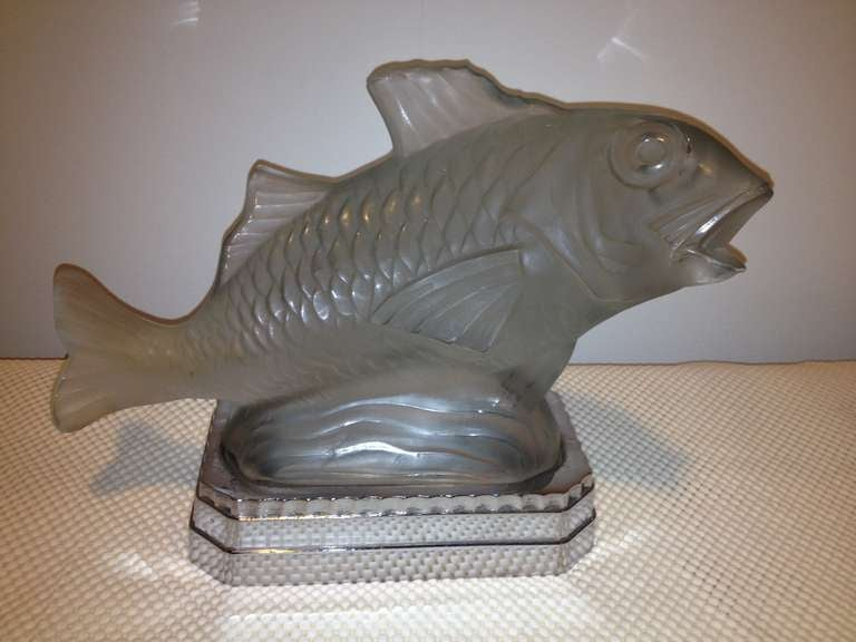 Sabino french art deco fish light for sale at 1stdibs for L fish furniture