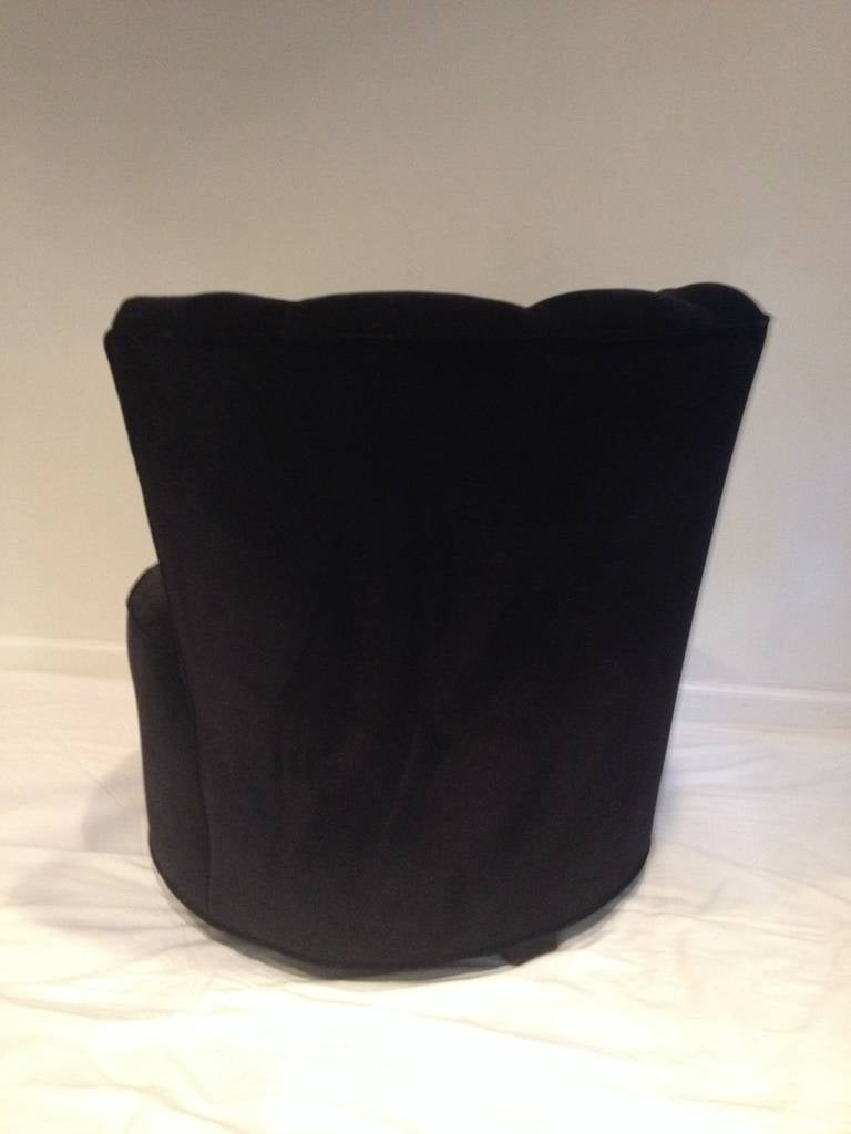 Gilbert Rohde Style Chanel Back Swivel Chair Deco For Sale