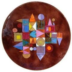 Rare Kay Whitcomb  ( Love Trust Wisdom Unity) Enameled Plate