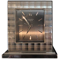 his and hers hermes bedside alarm clock for sale at 1stdibs. Black Bedroom Furniture Sets. Home Design Ideas