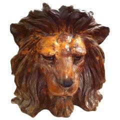 """Pair ceramic bretby Lion planters"""" Estate Rock hudson"""""""