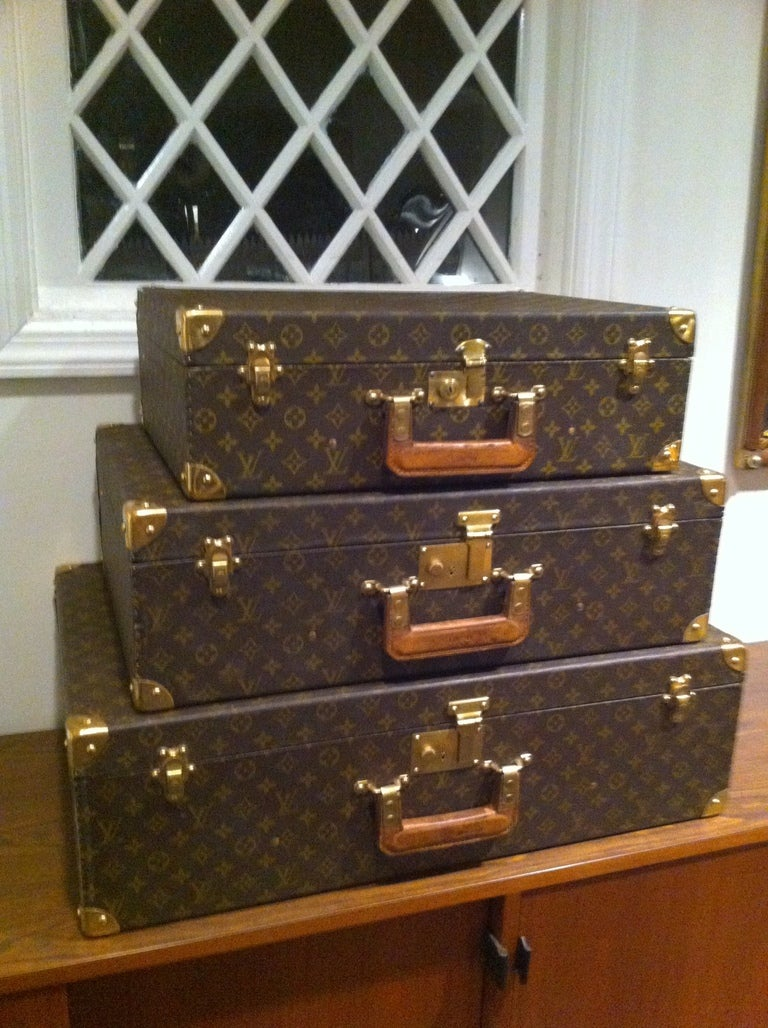 Louse Vuitton Stacking Luggage from Estate of Bert Parks  2