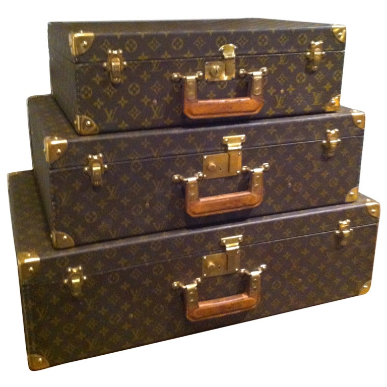 Louse Vuitton Stacking Luggage from Estate of Bert Parks
