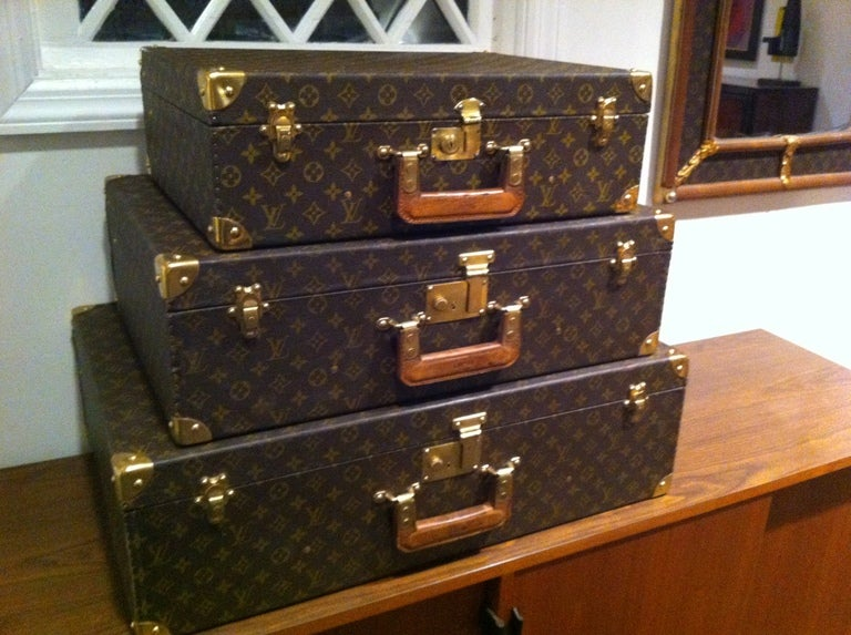 Louse Vuitton Stacking Luggage from Estate of Bert Parks  3