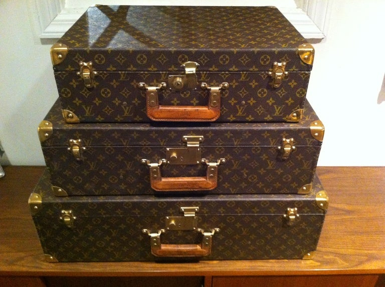 Louse Vuitton Stacking Luggage from Estate of Bert Parks  4