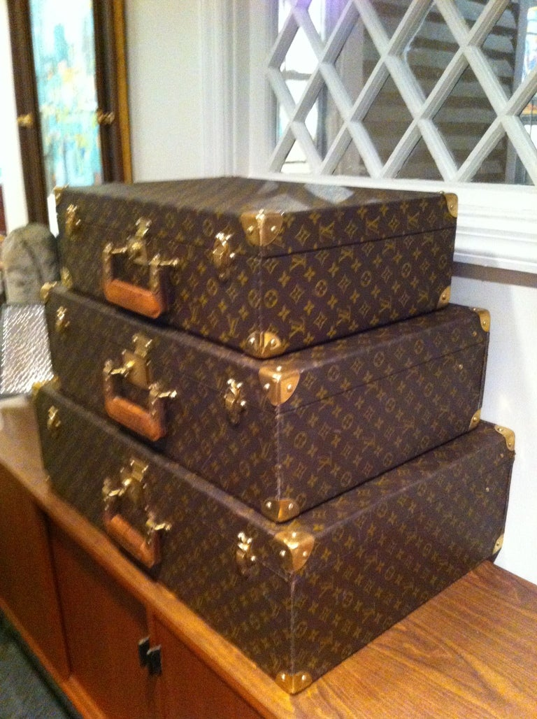 Louse Vuitton Stacking Luggage from Estate of Bert Parks  5